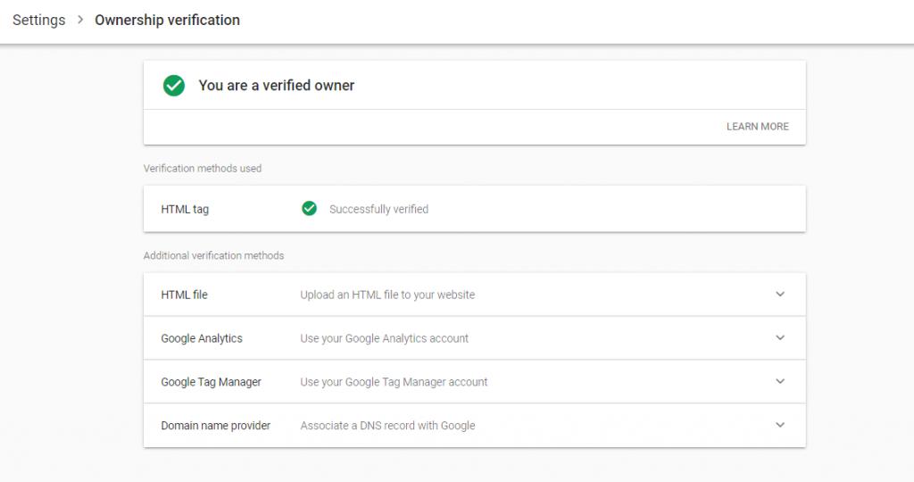Ownership verification